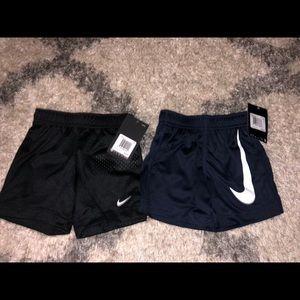 2 pairs of black nike toddler shorts